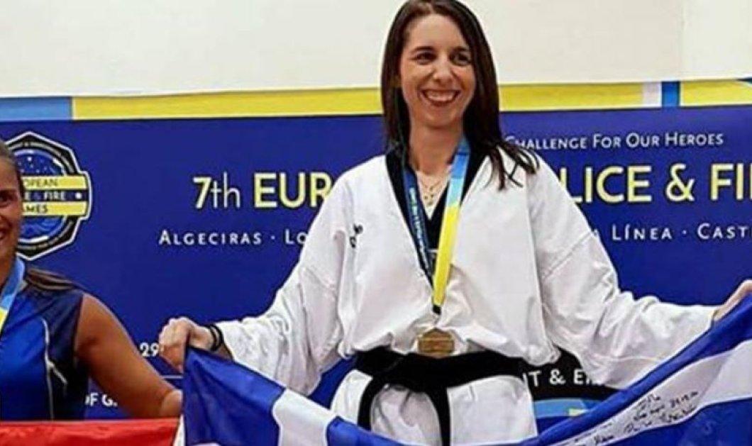Topwoman η Τούλα Παγωνάκη: Αστυνομικός μητέρα 4 παιδιών Χρυσή σε Πανευρωπαϊκούς Τάε Κβον Ντο - Κυρίως Φωτογραφία - Gallery - Video