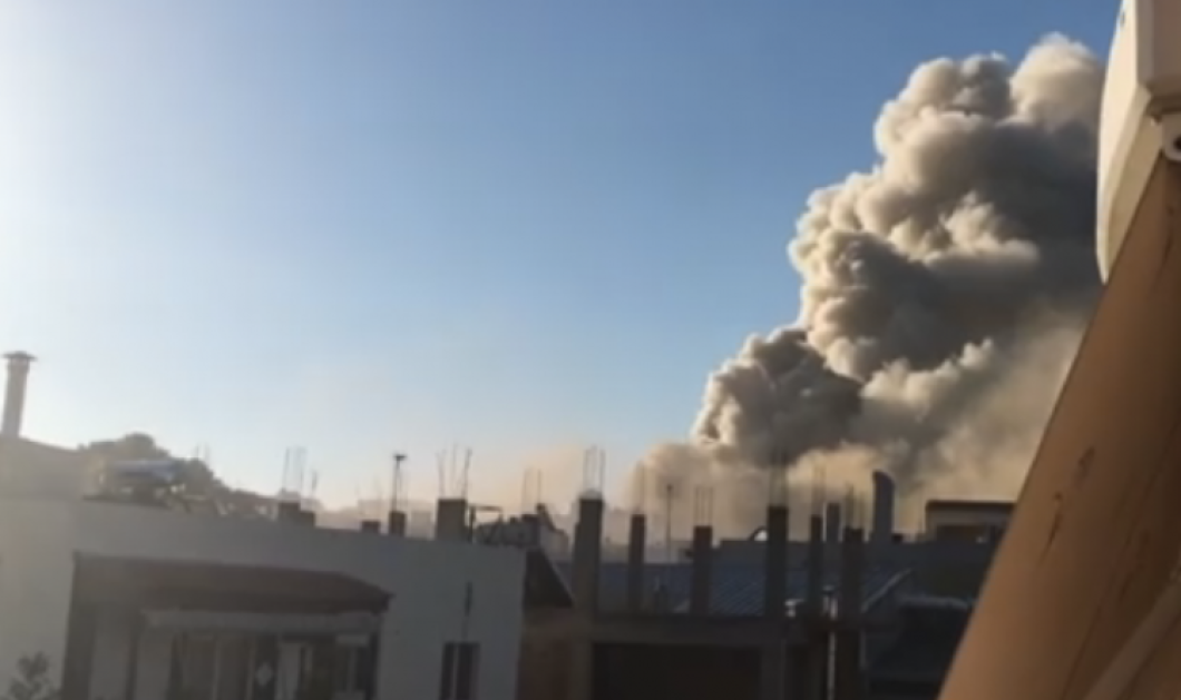 """Μεγάλη πυρκαγιά στο πανεπιστήμιο της Κρήτης: Πυκνοί καπνοί """"έπνιξαν"""" την περιοχή - Ανησυχία κοντά στο νοσοκομείο (φωτο-βιντεο) - Κυρίως Φωτογραφία - Gallery - Video"""