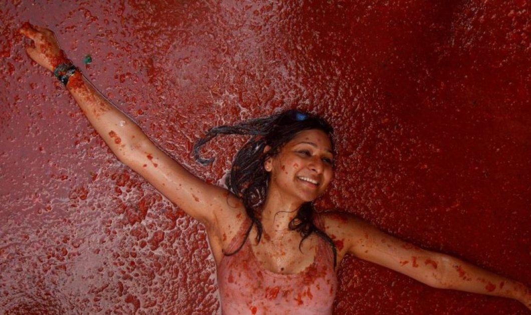 Το πιο κόκκινο και χαρούμενο φεστιβάλ του κόσμου λέγεται «Τοματίνα» - Σας παίρνουν με τις ντομάτες για πλάκα (Φωτό & Βίντεο) - Κυρίως Φωτογραφία - Gallery - Video