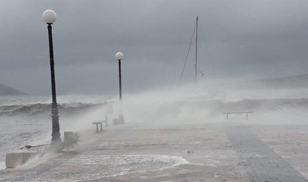 """Λακωνία: """"Εξαφανίστηκε"""" το Γύθειο - Ο μεσογειακός τυφώνας Ζορμπάς """"χτύπησε"""" και στη Μάνη (βίντεο) - Κυρίως Φωτογραφία - Gallery - Video"""