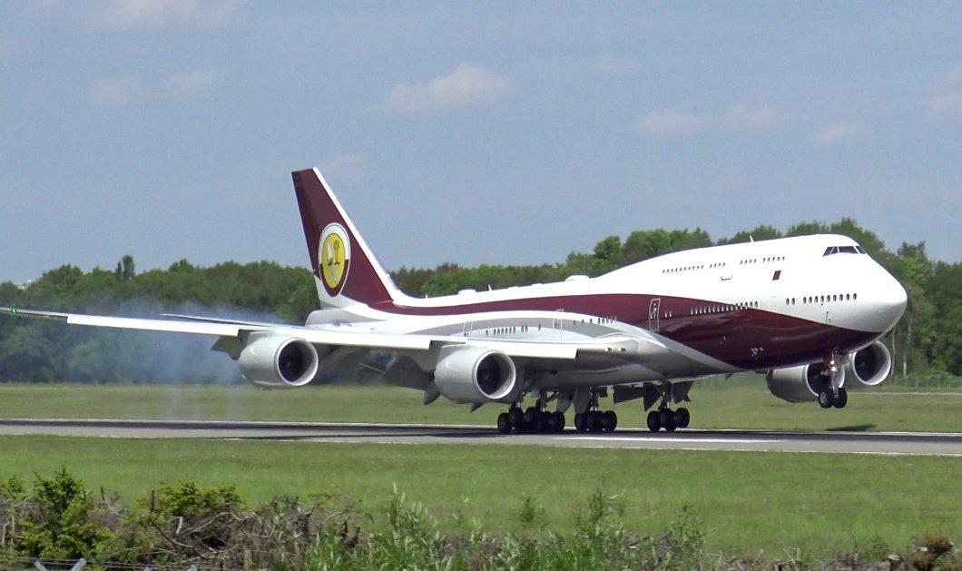 """Ένα """"ιπτάμενο παλάτι"""" δώρισε ο Εμίρης του Κατάρ στον Ερντογάν: Boeing 747-8 VIP 400 εκατ. με 7 υπνοδωμάτια - Κυρίως Φωτογραφία - Gallery - Video"""
