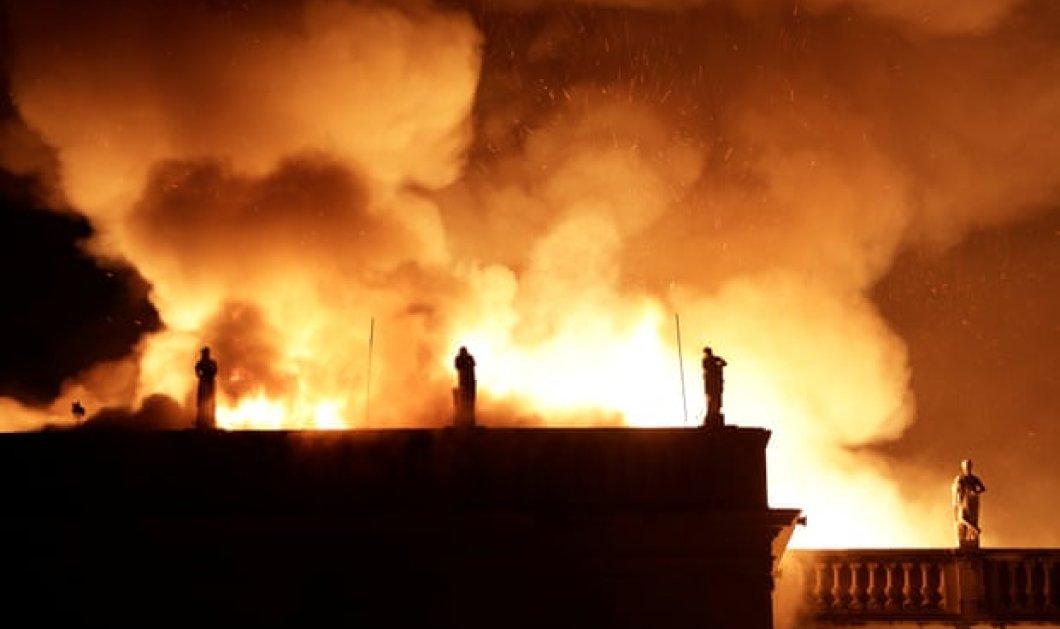 Βραζιλία: Φωτιά έκαψε τα πάντα στο Εθνικό Μουσείο - Χάθηκαν 200 χρόνια ιστορίας, καταστράφηκαν κι αρχαιοελληνικά εκθέματα (Φωτό & Βίντεο) - Κυρίως Φωτογραφία - Gallery - Video
