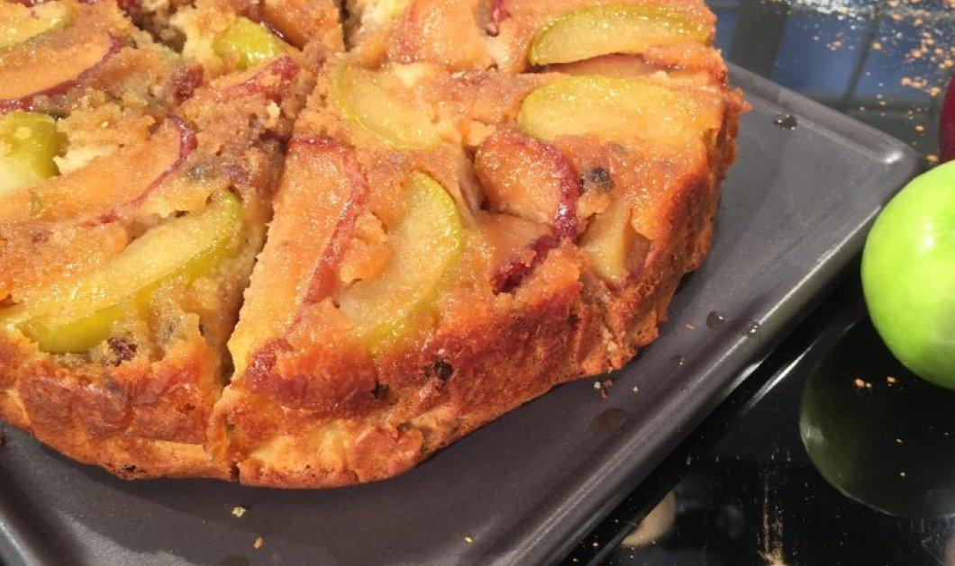 Αναποδογυριστή μηλόπιτα με πολύ αφράτο ζυμάρι από την εκπληκτική μας Αργυρώ!  - Κυρίως Φωτογραφία - Gallery - Video