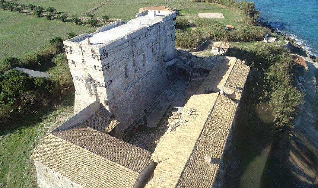 """Ζάκυνθος: """"Τραυματισμένο"""" αλλά αγέρωχο το μνημειώδες Καστρομονάστηρο των Στροφάδων - Δείτε τις φωτογραφίες και το εκπληκτικό βίντεο  - Κυρίως Φωτογραφία - Gallery - Video"""
