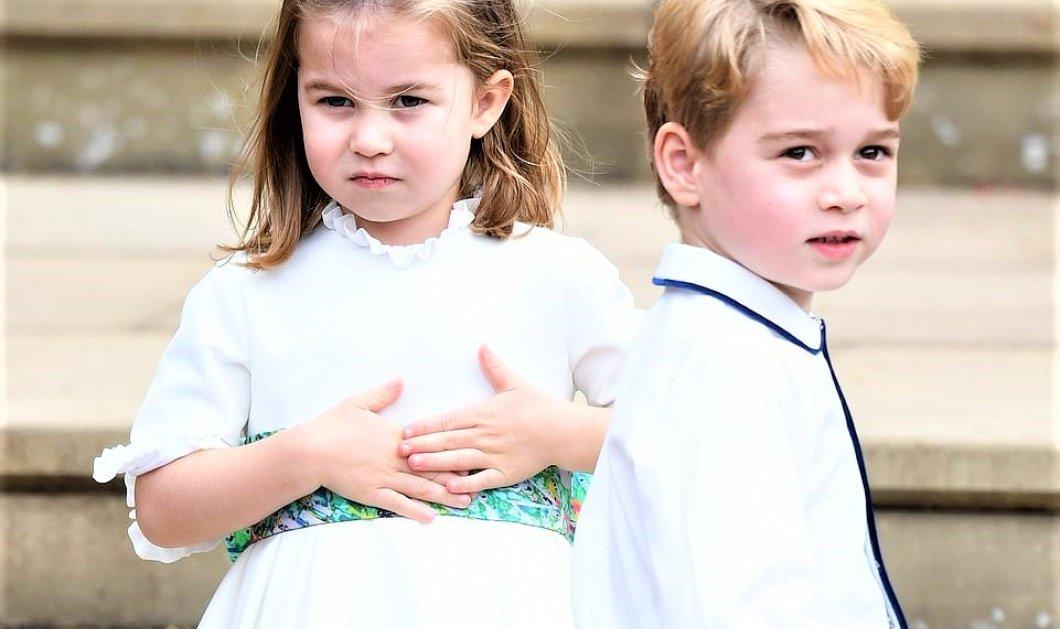 Γάμος Πριγκίπισσας Ευγενίας: Τι φόρεσαν τα παρανυφάκια George & Charlotte - Η floral ζώνη και στων δυο, τα outfits - Φώτο    - Κυρίως Φωτογραφία - Gallery - Video