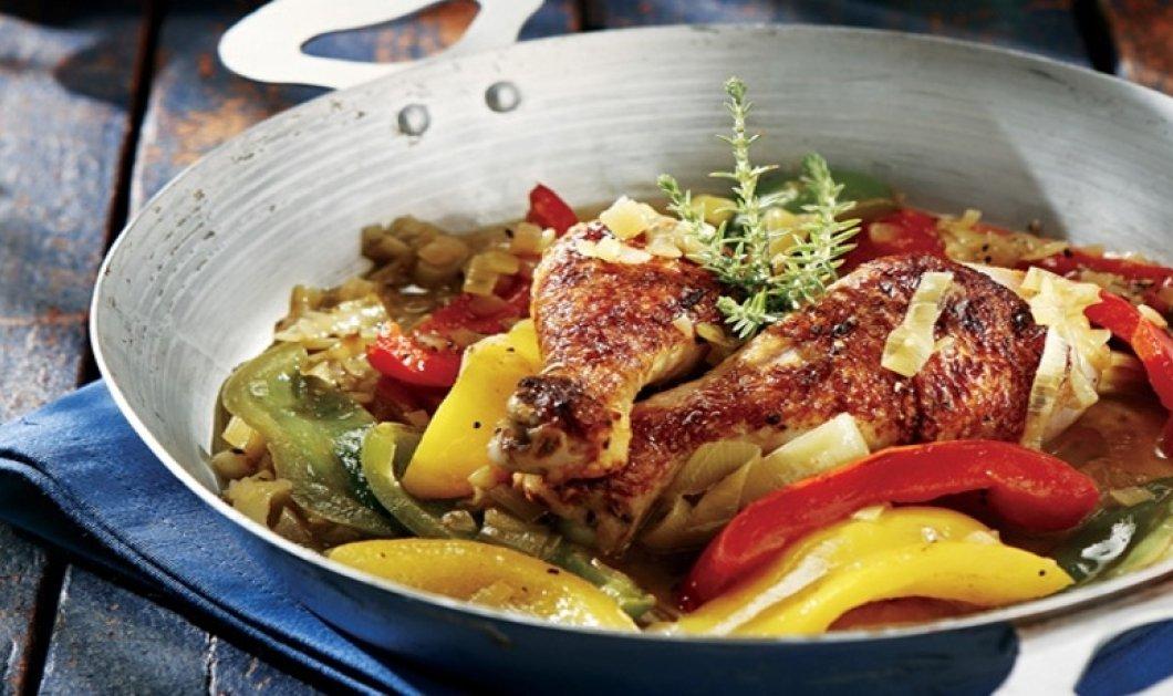Αργυρώ Μπαρμπαρίγου σε προκαλεί να δοκιμάσεις: Χωριάτικο κοτόπουλο με μελωμένη σάλτσα πιπεριάς & μπύρας… λουκούμι!  - Κυρίως Φωτογραφία - Gallery - Video