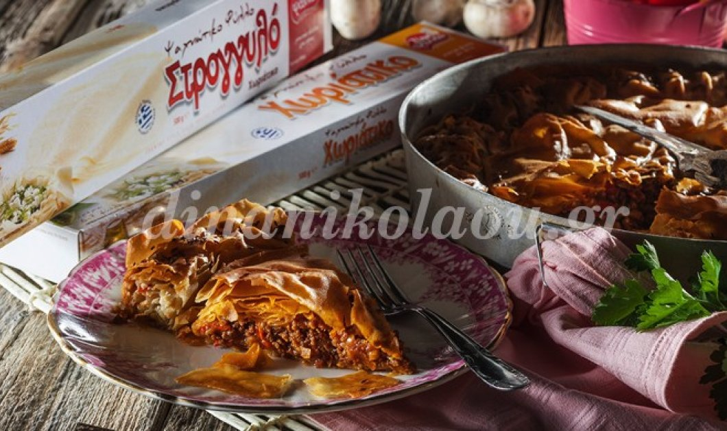Λαχταριστή! Δύο σε ένα πίτα με κιμά και γεμιστό στεφάνι με τυριά από την εξαιρετική σεφ Ντίνα Νικολάου - Κυρίως Φωτογραφία - Gallery - Video