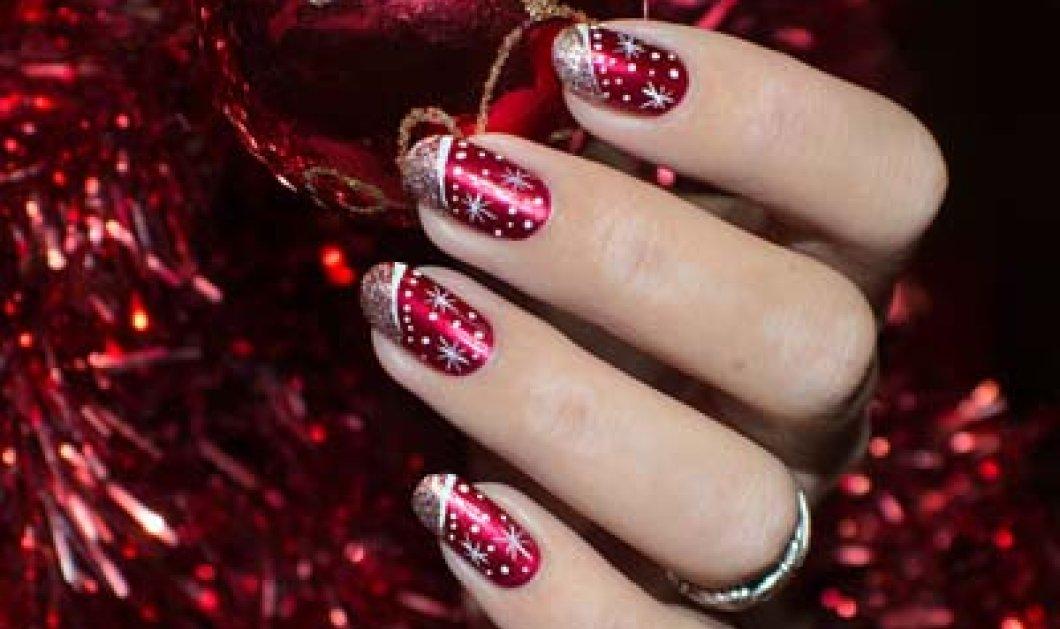 70 υπέροχες ιδέες για Χριστουγεννιάτικα νύχια: Λαμπερά & χρώματα γεμάτα ένταση - Φώτο - Κυρίως Φωτογραφία - Gallery - Video