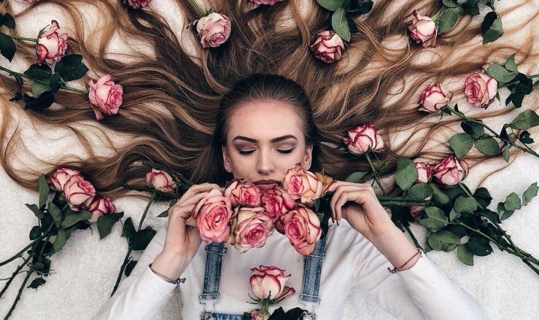 Καλλιτέχνιδα μας δείχνει τα πανέμορφα μαλλιά της: Στολισμένα με λουλούδια ή φύλλα - Φώτο  - Κυρίως Φωτογραφία - Gallery - Video