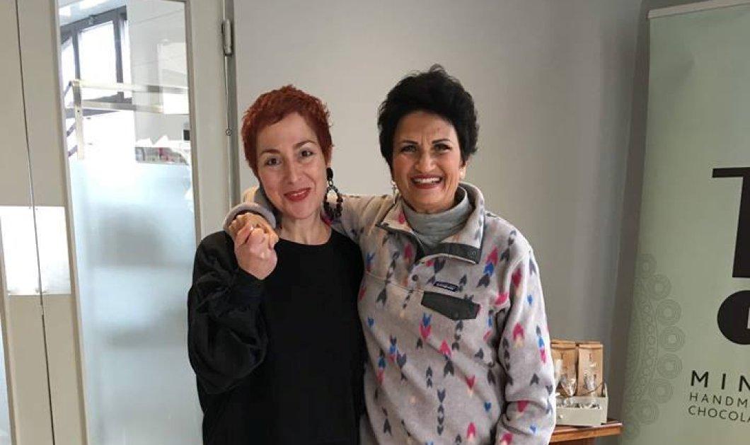 """Γλυκές συνωμοσίες:Όταν η Άλκηστις Πρωτοψάλτη συνάντησε τη """"βασίλισσα"""" της σοκολάτας Μίνα Αποστολίδη  (φωτό) - Κυρίως Φωτογραφία - Gallery - Video"""