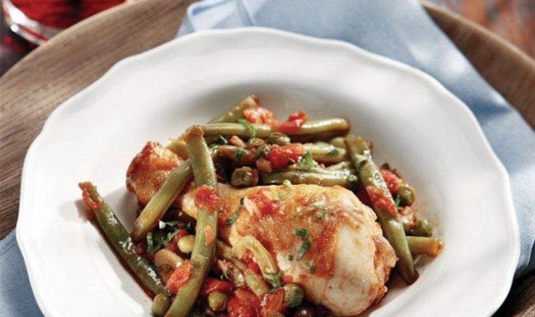 Σπιτικό κοτόπουλο με φασολάκια και αρακά από την Αργυρώ Μπαρμπαρίγου  - Κυρίως Φωτογραφία - Gallery - Video