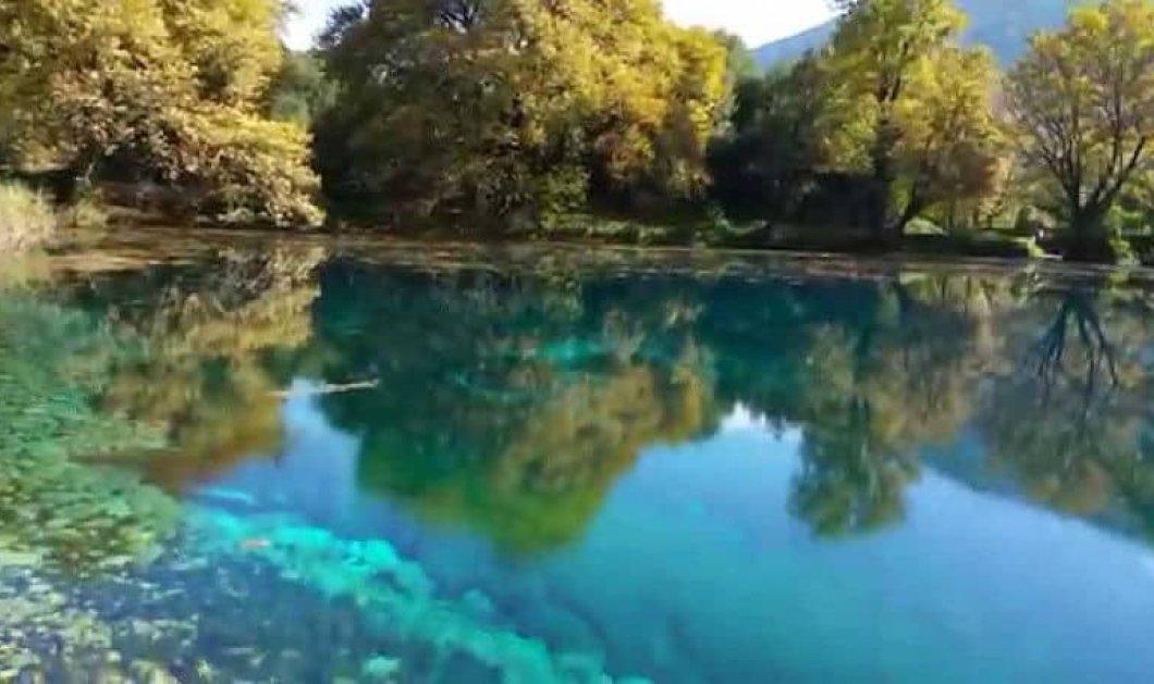 Πηγές Λούρου Ιωαννίνων: Φανταστικό τοπίο με μία λίμνη βουτηγμένη στο πράσινο τοπίο (Βίντεο) - Κυρίως Φωτογραφία - Gallery - Video
