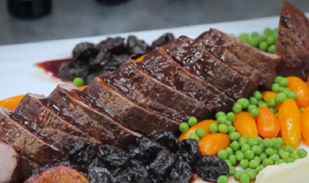 Η Αργυρώ Μπαρμπαρίγου φτιάχνει θεϊκό μοσχάρι με δαμάσκηνα με ονειρεμένη σάλτσα (βίντεο) - Κυρίως Φωτογραφία - Gallery - Video