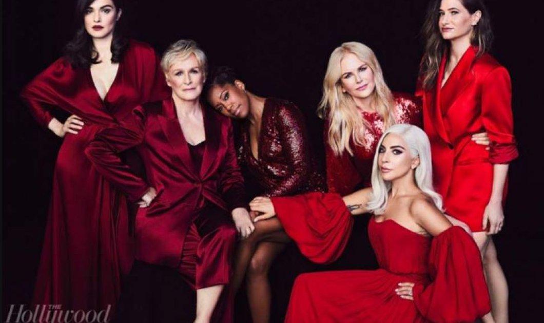 Έξι διάσημες κυρίες φωτογραφίζονται στα κόκκινα για το εορταστικό #Metoo εξώφυλλο του Hollywood Reporter (φωτό) - Κυρίως Φωτογραφία - Gallery - Video