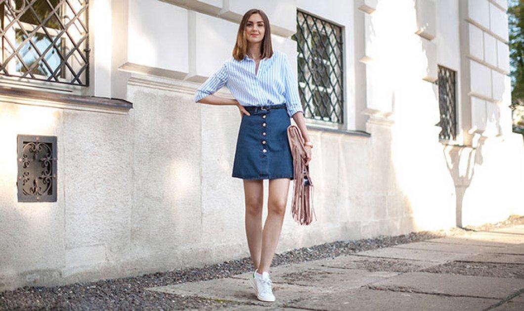 30 απίθανες ιδέες για εντυπωσιακά σύνολα με τζιν φούστα - Πως μπορείς να  την συνδυάσεις  e34b39b848e
