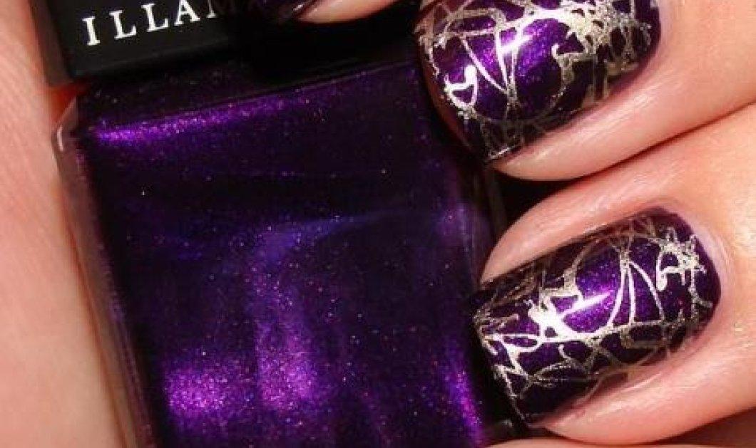 Τα κρακελέ νύχια είναι πάλι στη μόδα: Μοναδικές ιδέες με αποχρώσεις του μώβ, ασημί, λευκό, πετρόλ, ροζ - Φώτο  - Κυρίως Φωτογραφία - Gallery - Video