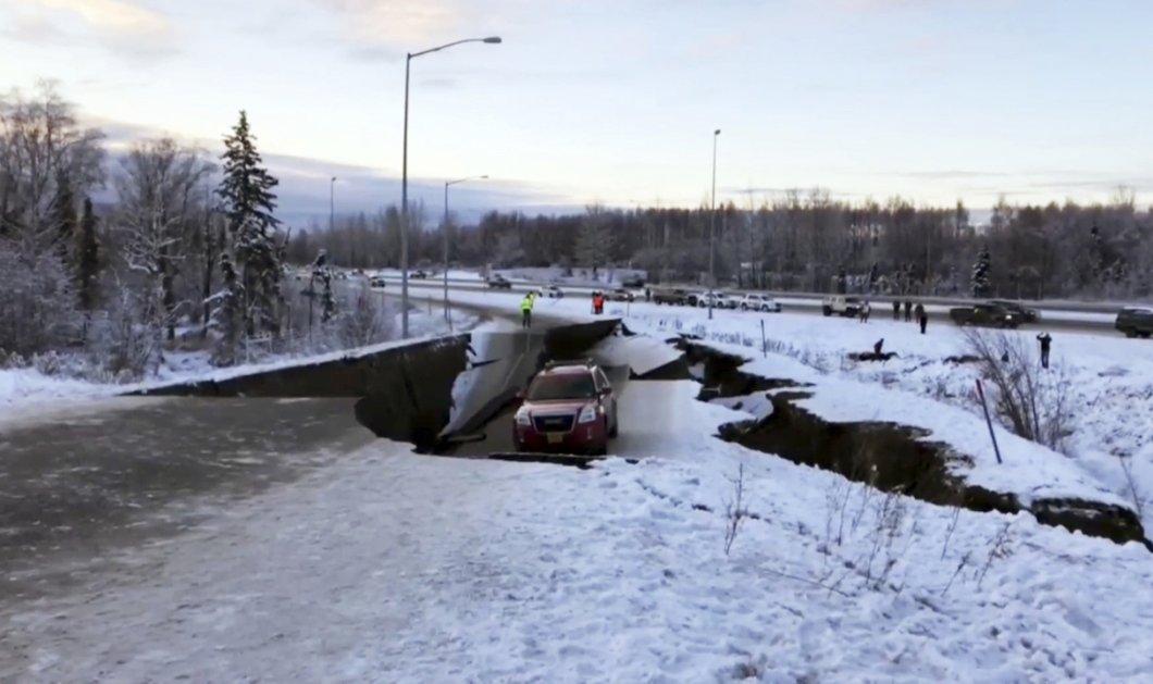 Καταστροφικός σεισμός 7 ρίχτερ στην Αλάσκα: Άνοιξε η γη στα δύο (φωτό) - Κυρίως Φωτογραφία - Gallery - Video