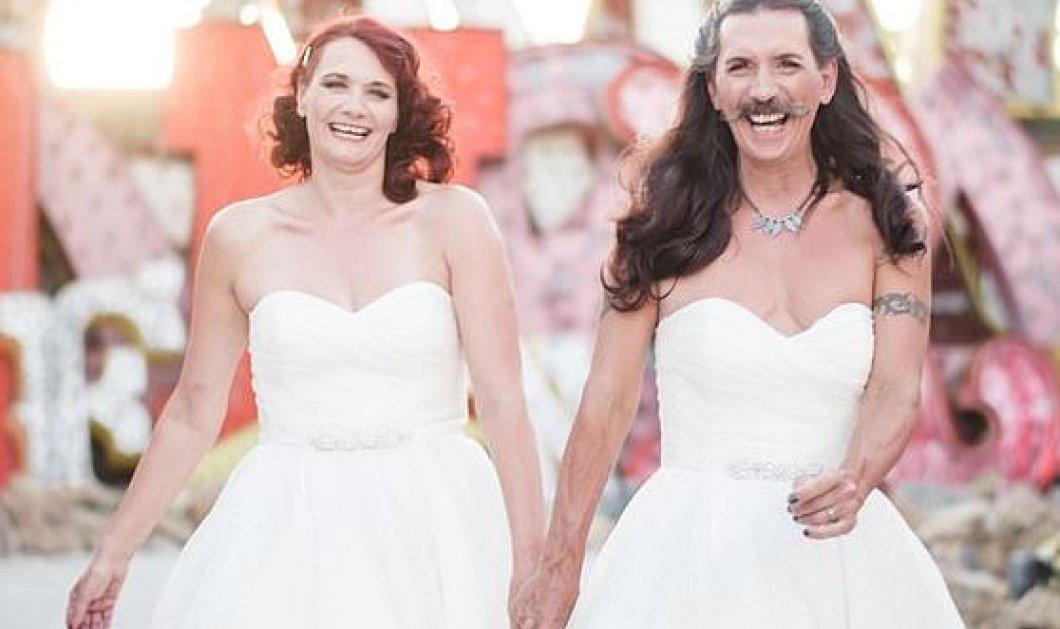 Ας γελάσω & μάλιστα πολύ: Ο γαμπρός φόρεσε το ίδιο νυφικό με την γυναίκα του – Ο γάμος της χρονιάς έχει πλάκα (φωτό) - Κυρίως Φωτογραφία - Gallery - Video