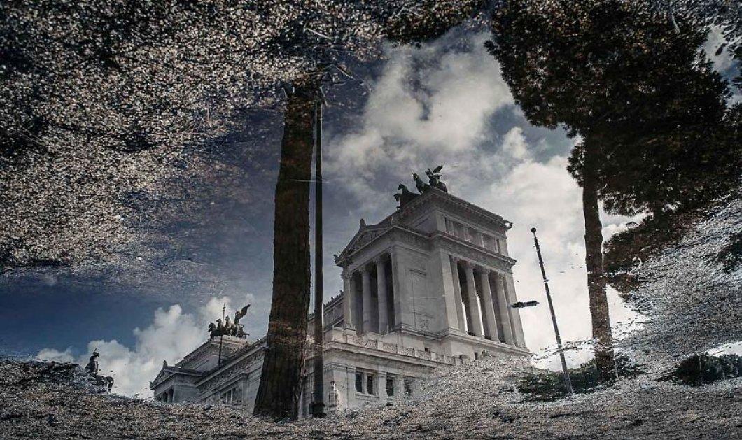 """Ρώμη: Η μυθική ομορφιά των ιστορικών κτισμάτων με το """"μαγικό ραβδί"""" της βροχής - Φώτο   - Κυρίως Φωτογραφία - Gallery - Video"""