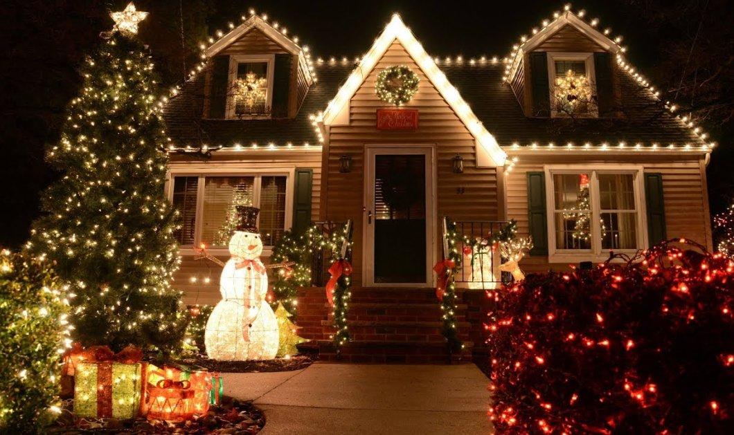Χριστουγεννιάτικος στολισμός αλά Χόλιγουντ: Βίντεο από το πιο γιορτινό σπίτι της Ελλάδας     - Κυρίως Φωτογραφία - Gallery - Video
