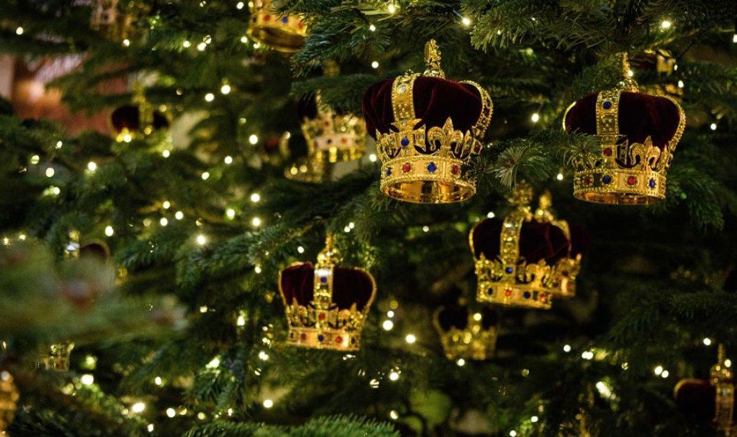 Αυτά είναι τα χριστουγεννιάτικα δέντρα που θα διακοσμούν το παλάτι του Μπάκιγχαμ και είναι όλα στολισμένα με κορώνες - Κυρίως Φωτογραφία - Gallery - Video