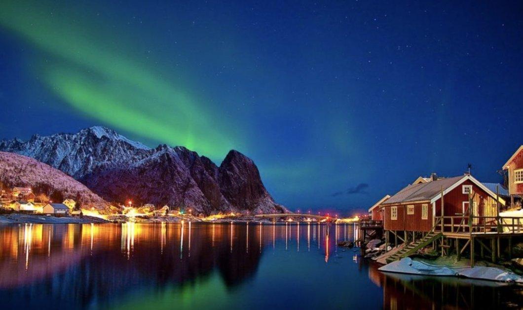Εκπληκτικές εικόνες του ουρανού: Δείτε το Βόρειο Σέλας στο ωραιότερο χωριό της Νορβηγίας (Φωτό & Βίντεο) - Κυρίως Φωτογραφία - Gallery - Video