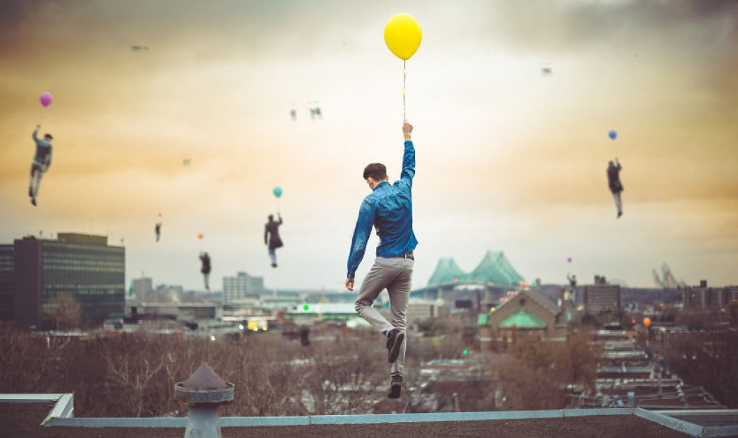 Καλλιτέχνης δημιουργεί σουρεαλιστικά σκηνικά με μπαλόνια για να ταξιδεύει τους ανθρώπους σε όλο τον κόσμο - Φώτο   - Κυρίως Φωτογραφία - Gallery - Video