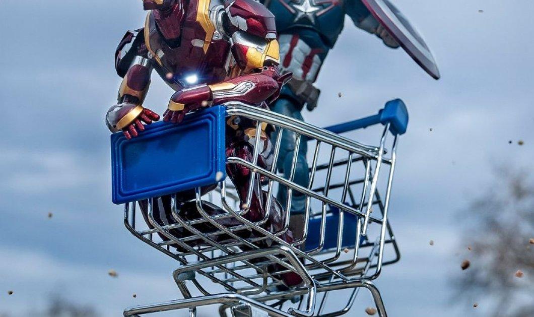 Απίθανα σκηνικά με μινιατούρες από χαρακτήρες ηρώων της Marvel: Από τον Captain America, μέχρι τον Iron Man    - Κυρίως Φωτογραφία - Gallery - Video