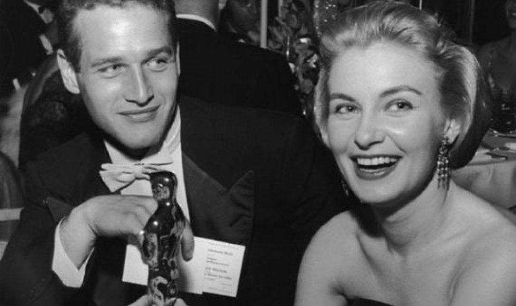 Vintage pic: Το Πρωτοχρονιάτικο φιλί του Πωλ Νιούμαν και της συζύγου του Τζοάν Γούντγουορντ το 1961 - Κυρίως Φωτογραφία - Gallery - Video