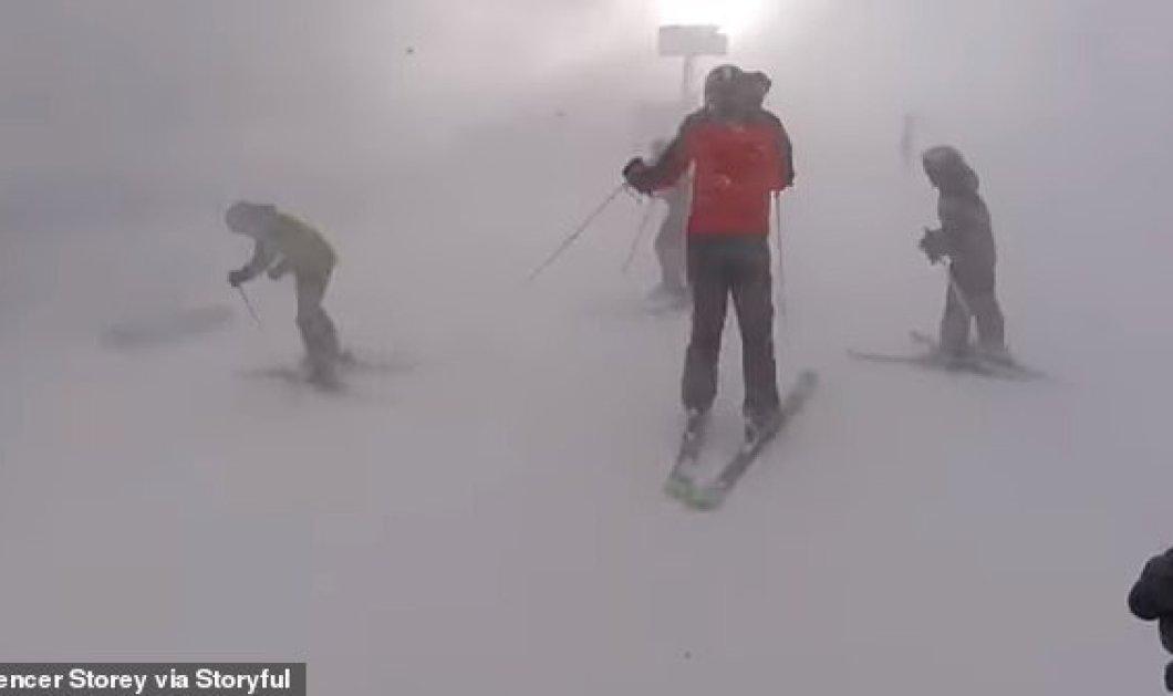 Βίντεο: Σκιέρ έρχονται αντιμέτωποι με τρομακτικές χιονοθύελλες σε ένα βουνό στο Γιούτα - Κυρίως Φωτογραφία - Gallery - Video