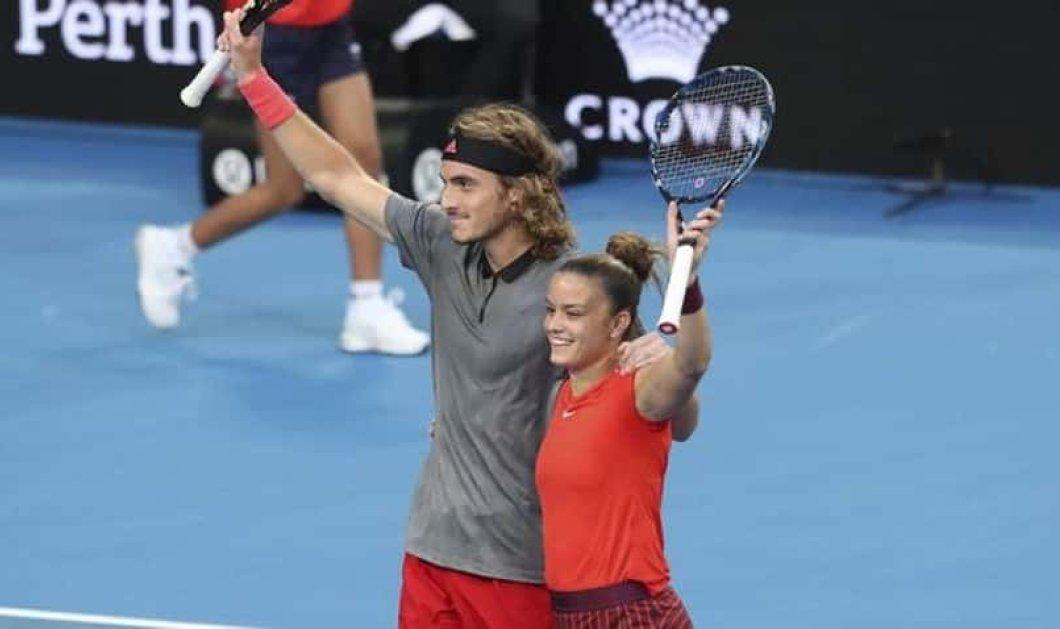 Τα αστέρια του τέννις Τσιτσιπάς & Σάκκαρη νίκησαν τον «θρύλο» Φέντερερ & την παρτενέρ του Μπέντσιτς στο Hopman Cup - Κυρίως Φωτογραφία - Gallery - Video