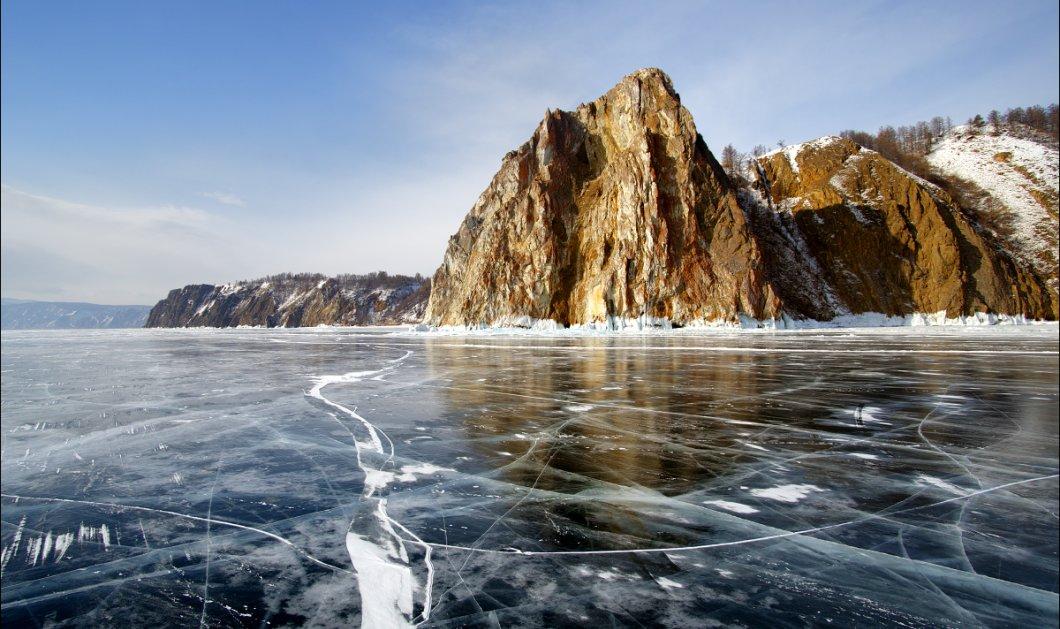 Εκπληκτικό βίντεο: Λίμνη στην Ρωσία πάγωσε και μπορείς να δεις καθαρά τον βυθό της! - Κυρίως Φωτογραφία - Gallery - Video