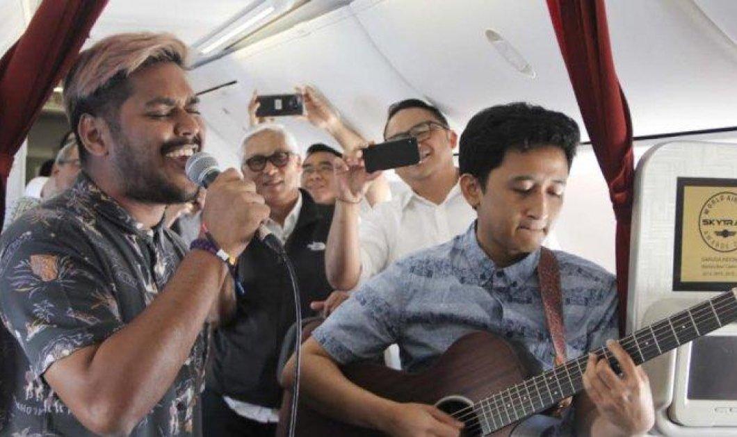 Συναυλίες στον αέρα: Ζωντανή μουσική εν ώρα... πτήσης προσφέρει εθνική αεροπορική εταιρεία (φωτό) - Κυρίως Φωτογραφία - Gallery - Video