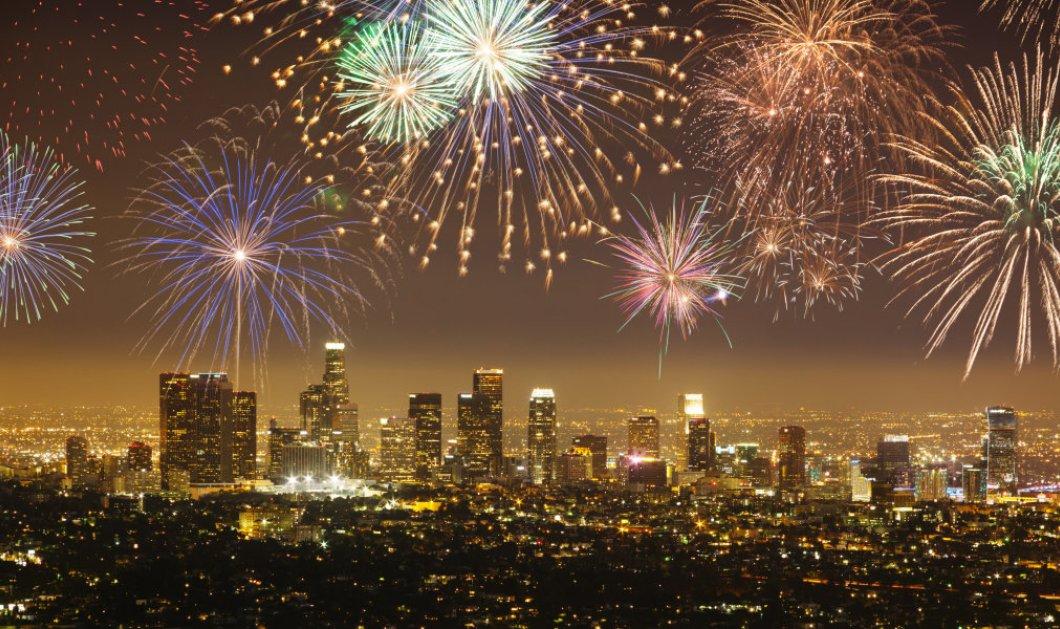Εντυπωσιακό timelapse βίντεο: Το Λος  Άντζελες με πυροτεχνήματα και λάμψη το βράδυ της Πρωτοχρονιάς - Κυρίως Φωτογραφία - Gallery - Video