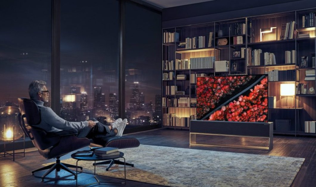 H νέα «έξυπνη» τηλεόραση μπορεί και τυλίγεται και ξετυλίγεται σαν ρολό από τη βάση της (βίντεο) - Κυρίως Φωτογραφία - Gallery - Video