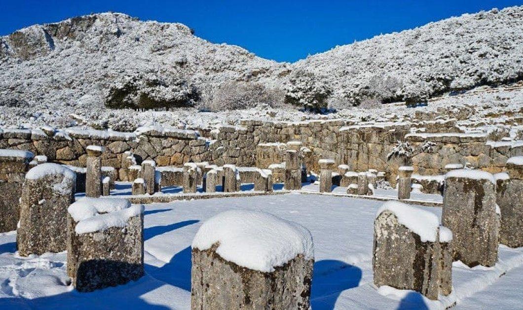 Υπέροχη η αρχαία Κασσώπη χιονισμένη στο Ζάλογγο Πρέβεζας – Καταπληκτικό βίντεο - Κυρίως Φωτογραφία - Gallery - Video