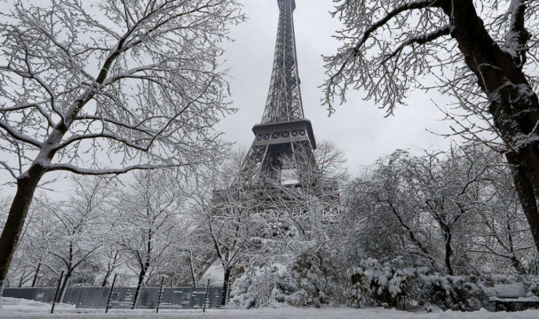 Στα λευκά το Παρίσι – Δείτε το υπέροχο χιονισμένο τοπίο (φωτό)  - Κυρίως Φωτογραφία - Gallery - Video