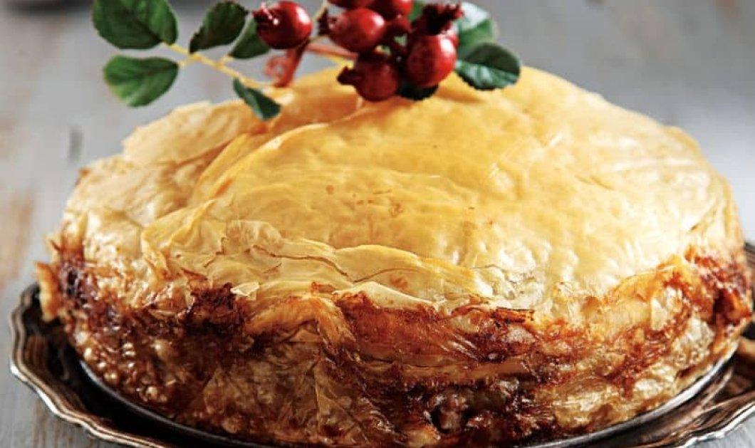 Αργυρώ Μπαρμπαρίγου: Πρωτοχρονιάτικη πίτα χοσταστική & εντυπωσιακή για το γιορτινό τραπέζι σας - Κυρίως Φωτογραφία - Gallery - Video