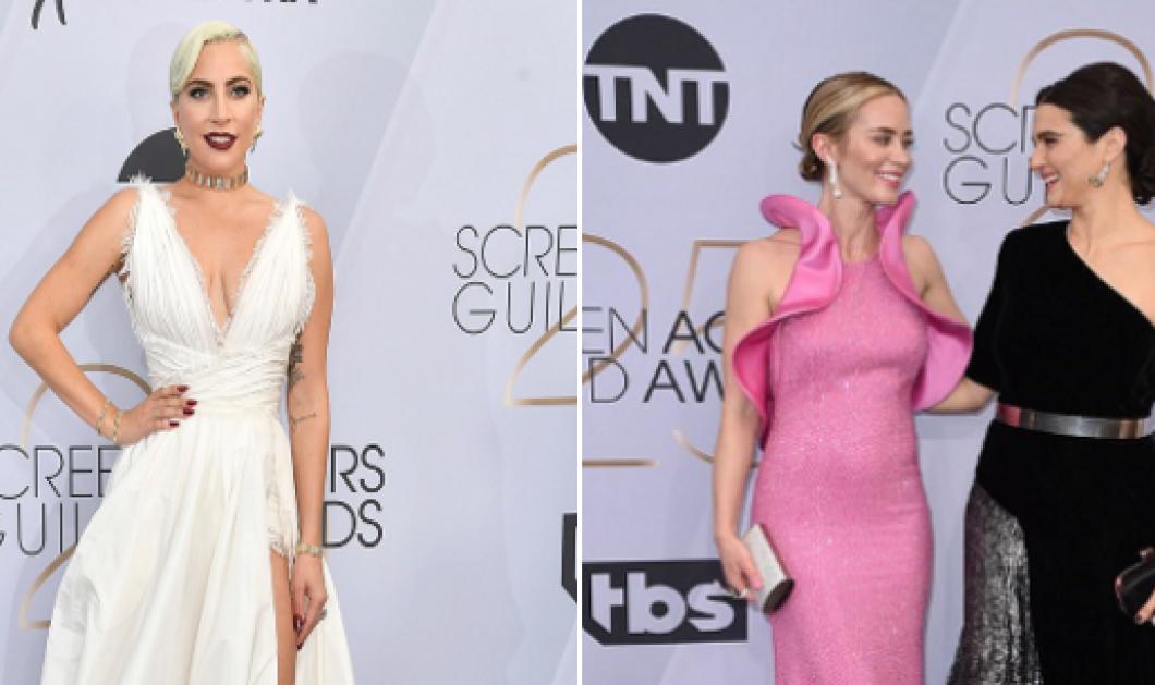 SAG Awards: Lady Gaga, Rachel Weisz και Emily Blunt μαγνήτισαν τα βλέμματα στο κόκκινο χαλί (Φωτό) - Κυρίως Φωτογραφία - Gallery - Video