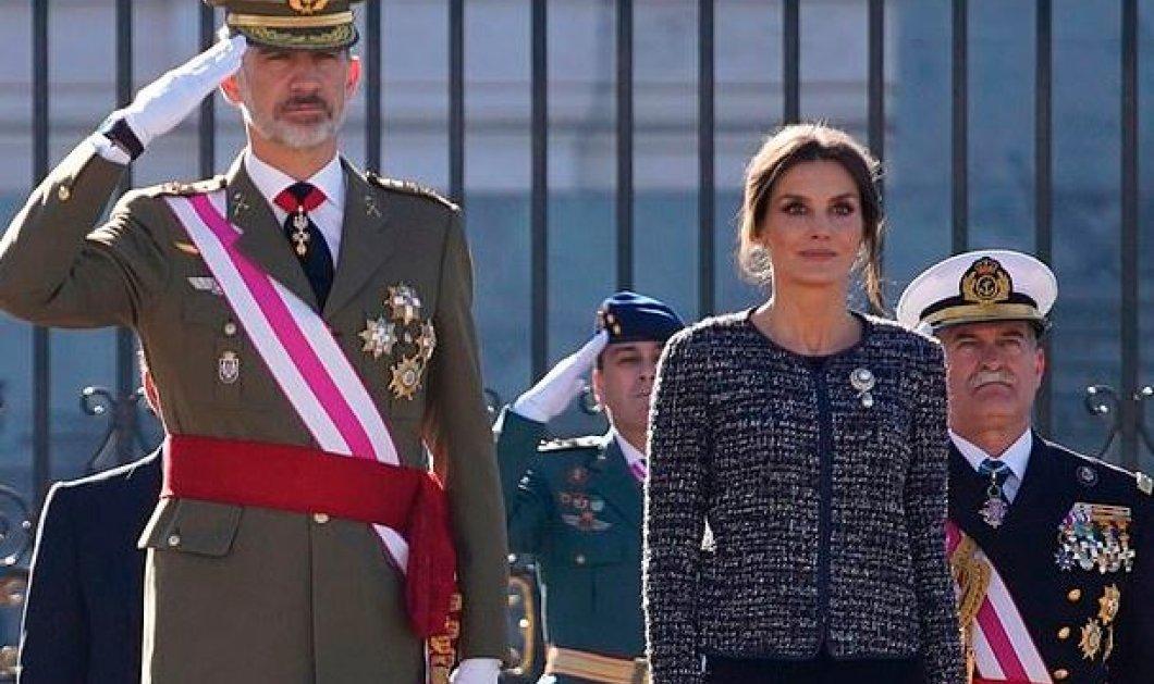 Υπέρκομψη η βασίλισσα της Ισπανίας Λετίσια την ημέρα των Θεοφανείων - Με υπέροχη τουαλέτα συνόδευσε τον σύζυγό της (φωτό) - Κυρίως Φωτογραφία - Gallery - Video