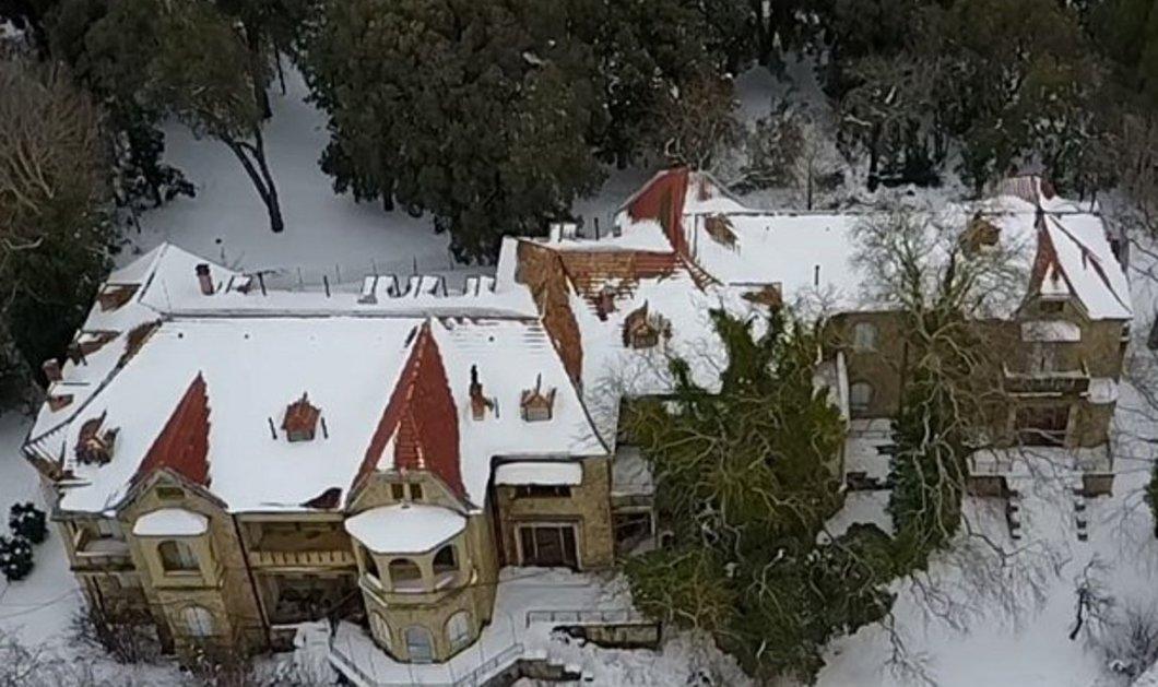 Εκπληκτικό βίντεο: Τα χιονισμένα ανάκτορα στο Τατόι σε υπέροχες λήψεις Drone  - Κυρίως Φωτογραφία - Gallery - Video