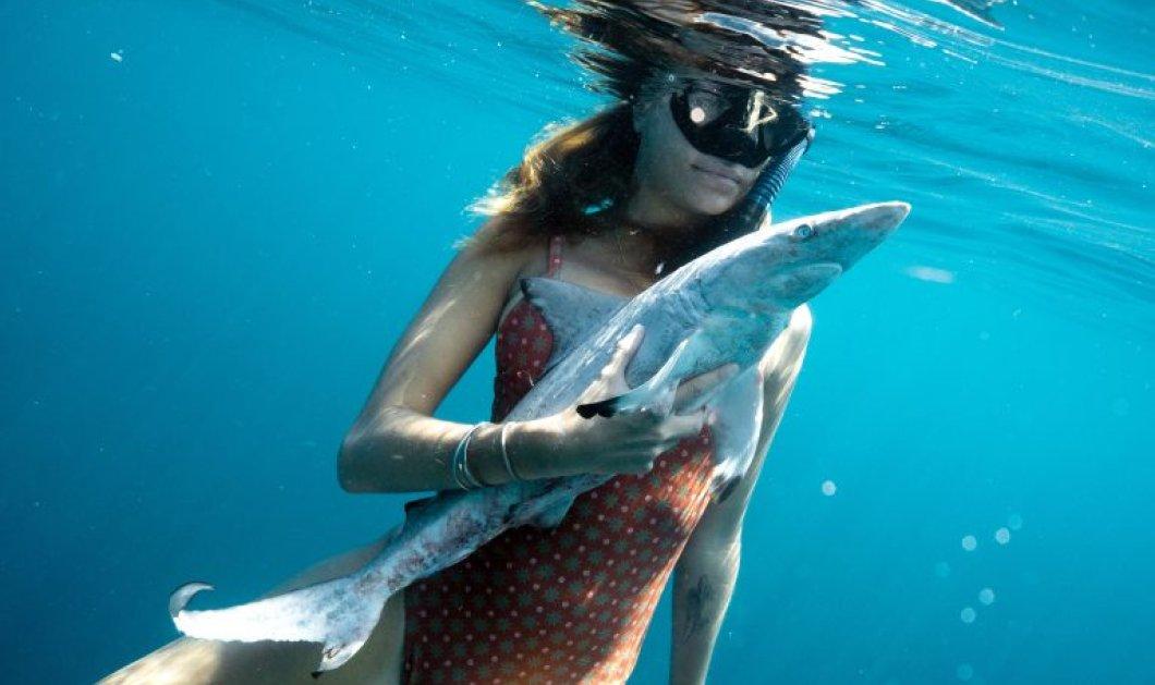 Topwomen ή εντελώς κουζουλές οι δυο δύτριες που σώζουν καρχαρίες από τα δίχτυα ψαράδων; (φωτό & βίντεο) - Κυρίως Φωτογραφία - Gallery - Video