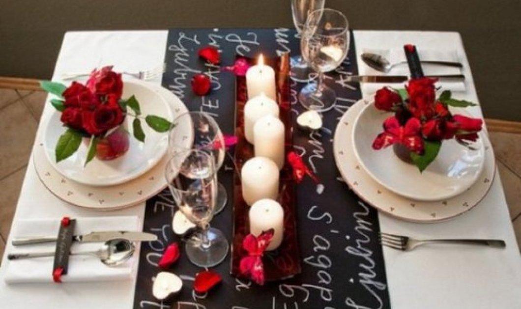 Σας θέλω χαρούμενες: 16 ιδέες για να διακοσμήσετε κόκκινα και ερωτιάρικα το τραπέζι σας του Αγίου Βαλεντίνου - Φώτο  - Κυρίως Φωτογραφία - Gallery - Video