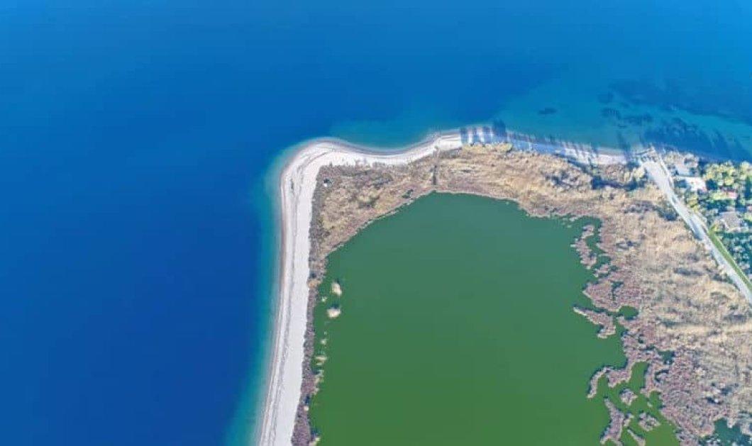 Η μαγεία της φύσης σε μία πτήση πάνω από τη λιμνοθάλασσα Αλυκής Αιγίου (Βίντεο) - Κυρίως Φωτογραφία - Gallery - Video