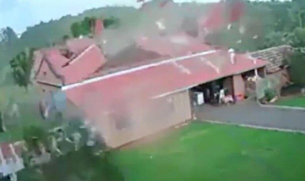 Βραζιλία: Όταν ο δυνατός άνεμος ξεριζώνει ένα ολόκληρο σπίτι  - Και δεν ανήκε στα 3 γουρουνάκια (βίντεο) - Κυρίως Φωτογραφία - Gallery - Video