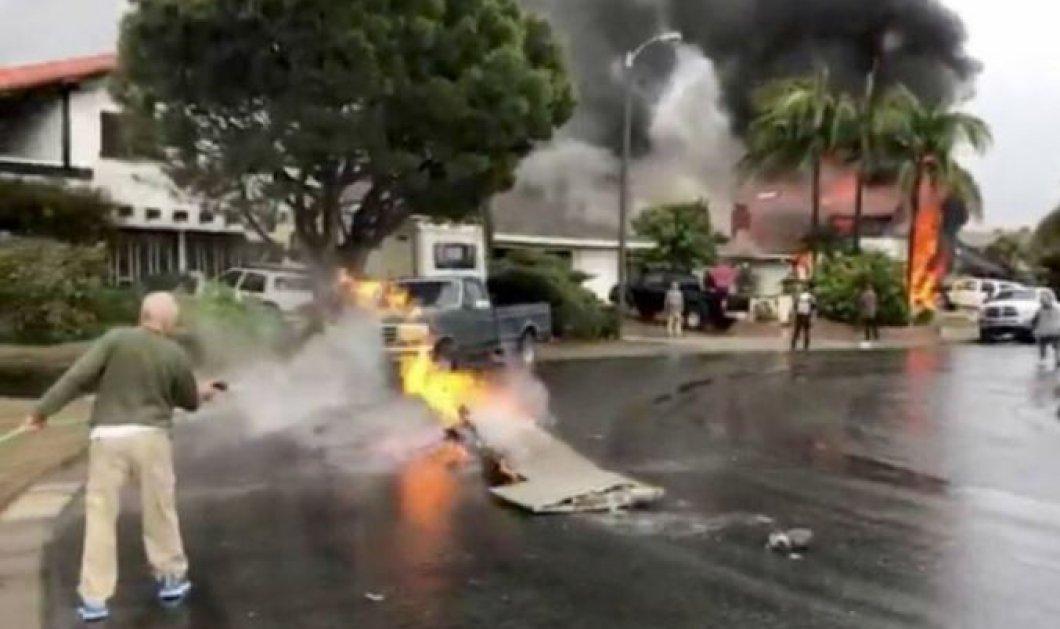 Καλιφόρνια: Ένα αεροπλάνο έπεσε πάνω σε σπίτι – Πέντε οι νεκροί! (βίντεο) - Κυρίως Φωτογραφία - Gallery - Video