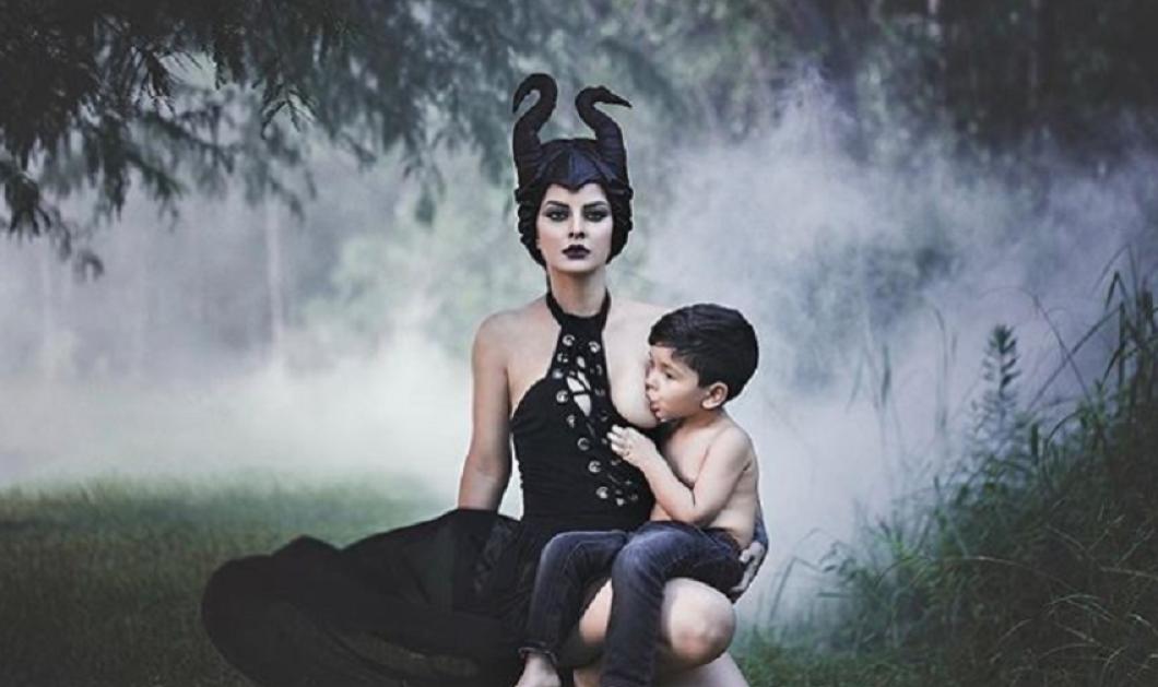 """Ακραίος θηλασμός! Καλλονή Ουαλή φωτογραφίζεται προκλητικά με τον αυτιστικό γιο της να θηλάζει! - """"Με αποκαλούν παιδόφιλη"""" (φώτο)  - Κυρίως Φωτογραφία - Gallery - Video"""