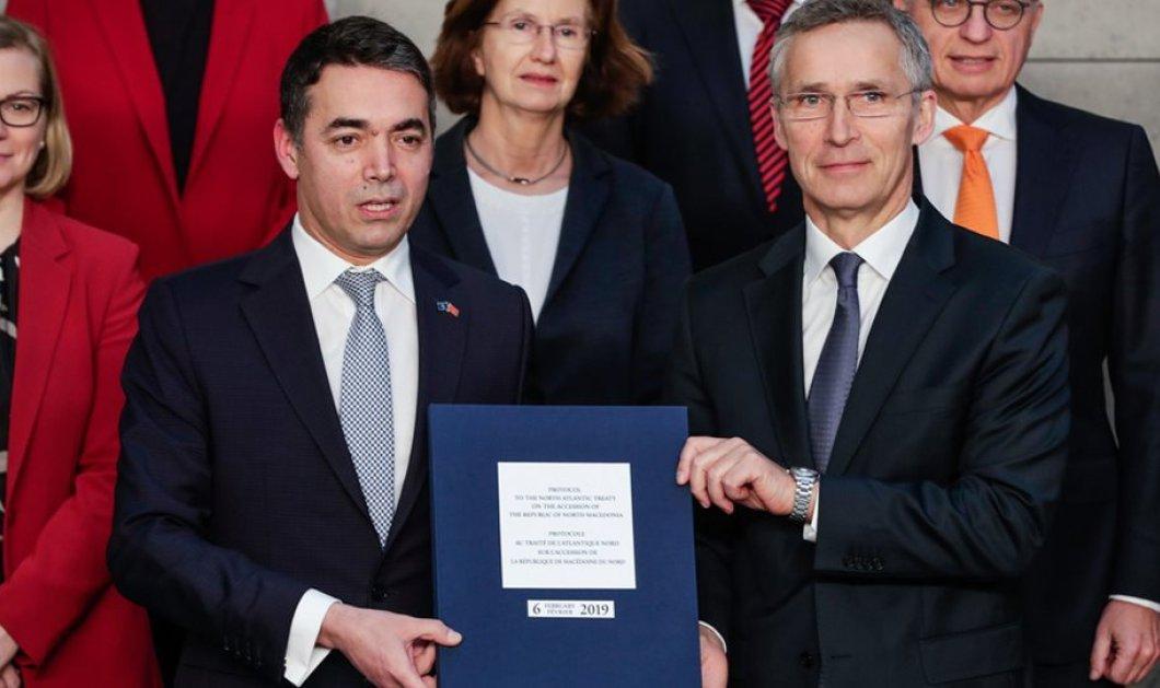 Υπογράφηκε το πρωτόκολλο για την εισδοχή της Βόρειας Μακεδονίας στο ΝΑΤΟ - Κυρίως Φωτογραφία - Gallery - Video