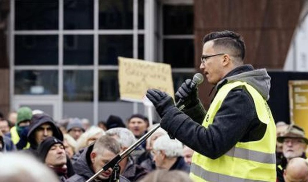 Γιάννης Σάκαρος: Ο 26χρονος Έλληνας - ηγέτης των Κίτρινων Γιλέκων στη Γερμανία - Κυρίως Φωτογραφία - Gallery - Video
