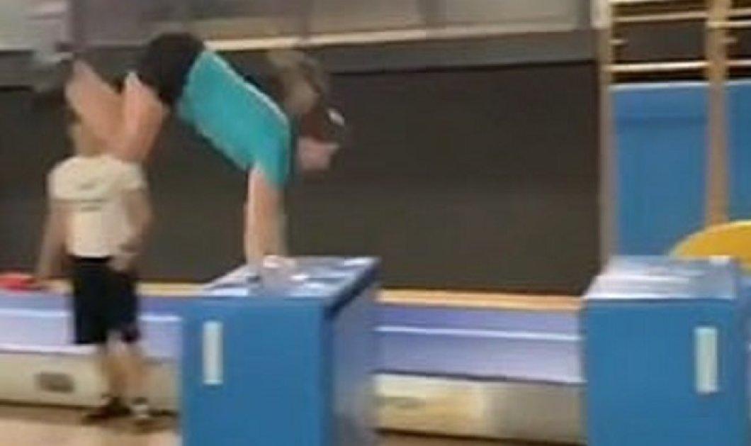 Ξεκαρδιστικό βίντεο: Άδοξο τέλος για το παρκούρ - Η γυμνάστρια προσγειώθηκε με το κεφάλι μέσα σε ένα κουτί - Κυρίως Φωτογραφία - Gallery - Video